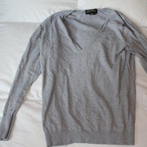 Eddie Bauer Light Gray V Neck sweater